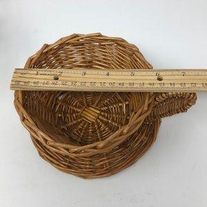 Vintage Accents - Boho Wicker Coffee Mug Shaped Basket